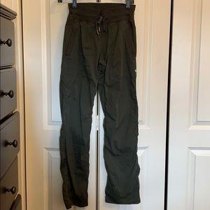 Lululemon army green dance studio pants